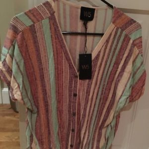W5 concepts at Anthropologie Multi colored top